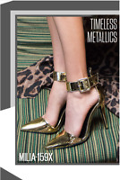 Qupid Sexy Pointy Toe Metallic Ankle Strap Pump Heels #Milia159