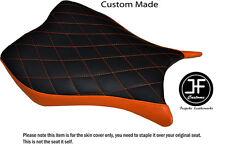 Puntada de Diamante Naranja Personalizado Para Honda CBR 1000 RR 13-15 Cubierta de asiento Delantero De Vinilo