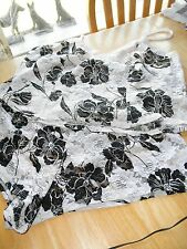 Cute White & Black Rose Lace Spaghetti Strap Lingerie Pajama Set 2 pc Short Top