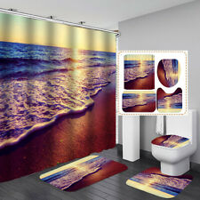 Sea shower curtain fabric 3d bathroom shower curtains bathroom curtain hoKTP