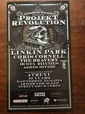 LINKIN PARK project revolution mini  poster  2008 listings of acts Chris Cornell