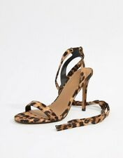 ASOS strappy leopard print high heel shoes party perfect 🔥✨