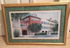 The Charleston Row by P.M. Fitzpatrick 5/950 signed and framed