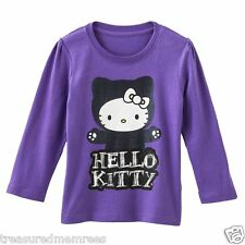 Hello Kitty Glittery Long Sleeve Tee Shirt ~ Size 4T ~ New With Tags