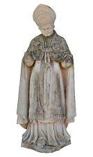 Statue ancienne en pierre représentation papale