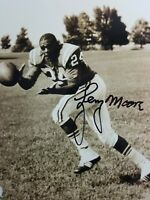 LENNY MOORE BALTIMORE COLTS SIGNED AUTOGRAPHED 8X10 PHOTO HOF '75 WITH TICKET