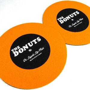 """Dr Suzuki The Donuts Ultimate 45 Slipmats 7"""" - Pair DJ Scratch slipmat - Orange"""