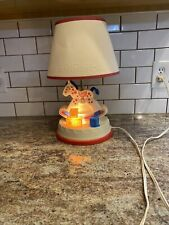 New listing Vintage Fisher Price Lamp Rocking Horse Musical Night-Light Baby Nursery 1984