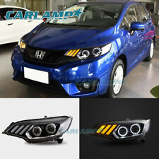 LED Headlights For Honda Fit / Jazz 2015-2018 Blinker Mustang Look Assembly