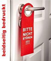 Dekoschild Türschild Filz Türhänger rot Bitte nicht stören beidseitig bedruckt