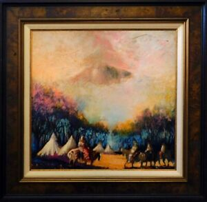"""Earl Biss """"A Long Way Home On A Day Like This"""" Giclee Commemorative custom frame"""