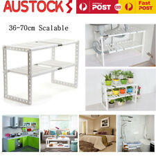 2 Tier Expandable Adjustable Under Sink Shelf Storage Kitchen Organiser Shelves.