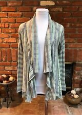 *NEW* Boho CHIC Striped Open Front Draping Layering Sweater Jacket