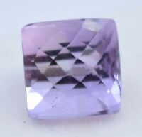 11.55 Ct Natural Pink Amethyst Checkerboard Sparkling AGL Certified Gemstone