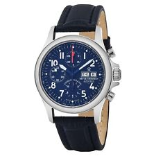 Revue Thommen Men's Pilot Blue Dial Strap Chronograph Automatic Watch 17081.6539