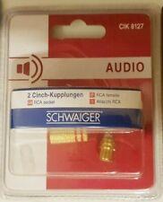 SCHWAIGER Cinch Kupplungen Gold CIK8127 AUDIO 1x rot 1x blau Selbstmontage NEU