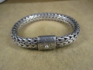"""John Hardy Sterling Silver Heavy Classic Wheat Mesh Bracelet, 7 5/8"""", 73.7g"""