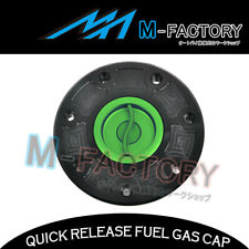 For Kawasaki ZX 6E 93-95 96 97 98 99 00 01 Green Quick Release CNC Tank Fuel Cap