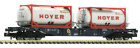 "Fleischmann N 825216 Containertragwagen HOYER / CEMAT ""Neuheit 2020"" - NEU + OVP"