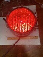 Vintage General Electric Red Stop Traffic Light, Still works, Cast aluminum
