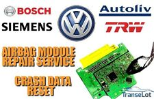 VOLKSWAGEN (VW) AIRBAG ECU SRS ECU AIRBAG MODULE CRASH DATA RESET REPAIR SERVICE
