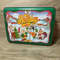 Vintage 1997 KEEBLER Elves Holiday Cookies Metal/Tin Container PRE-OWNED