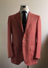 NEW $6600 Cesare Attolini 100% Cashmere 40R/50R Salmon Herringbone Blazer Kiton