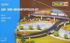 Faller 282909 Z - Auf- und Abfahrtspfeiler- Set NEU & OvP