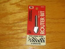 """VERMONT AMERICAN  ROUTER BIT V-Groove 1/2""""  MADE USA Mid-70's 1/4"""" Shank"""