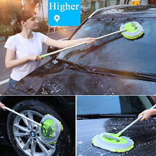 Car Care BrushTool Adjustable Telescopic Cleaning Wiping Soft Mop Wash Replaceab