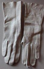 Vintage White Italian Kidskin Leather Gloves Sz 6 L#155