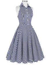 Regular Size Casual Striped Dresses for Women