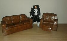 "Custom Display Diorama Couch prop 1:12 6"" Marvel DC Batman Punisher"