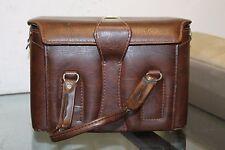 Men's Vintage Leather Bag SLR DSLR Camera Bag Brown