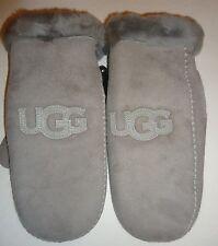 UGG Australia SHEARLING Logo Mitten,L/XL,Seal Grey