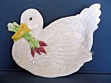 FITZ & FLOYD Classics Le CANARD Duck Canape Plate Wall Hanging