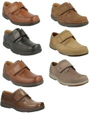 SWIFT TURN MENS CLARKS LIGHTWEIGHT WIDE RIPTAPE CASUAL WORK SHOES SIZE
