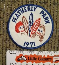 Girl Scouts - Featherly Park California - 1971 Vintage Participation Patch NEW