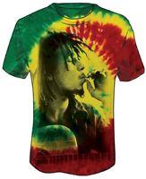Official Bob Marley - Rasta Smoke Tie Dye Adult T-shirt -Jamaican Reggae Singer