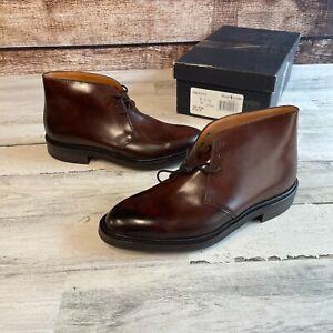 Crockett & Jones Polo Ralph Lauren Shell Cordovan Boots 8.5 D McCallum w/ Box