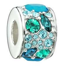 Chamilia Silver bead - Mosaic - Multi blue Swarovski