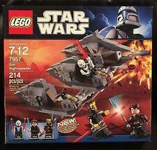 Star Wars RETIRED LEGO 7957 Sith Nightspeeder w/ Savage Opress Asajj Anakin MIB