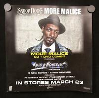 """Snoop Dogg - More Malice Mint- Poster 12""""x12"""" Priority 2010"""