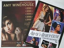 """AMY WINEHOUSE """"I TOLD YOU I WAS TROUBLE"""" 2-SIDED U.S. PROMO POSTER-Concert Shots"""