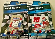 KYLE BUSCH 2018 WAVE 9 & 11 #18 1/64 NASCAR AUTHENTICS SNICKERS/RWB M&M'S NEW!