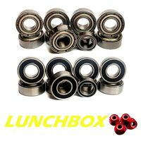 Bearing Set for TAMIYA LUNCH BOX COMPLETE 10 Rubber/Metal Hop up Upgrade