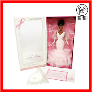 Barbie Pink Ribbon Collector Doll Breast Cancer K7813 Mattell African American