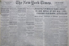 1-1936 January 4 ATOMIC RESEARCH REVEALS PARTICLE. NEW ITALIAN ETHIOPIA DRIVE.