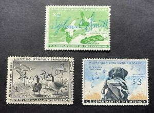 #RW24 RW25 RW26 - 1957 1958 1959 - US Federal Duck Stamp Collection - Signed