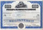 Phillips Petroleum Company Stock Bond Certificate Oil Gas Blue